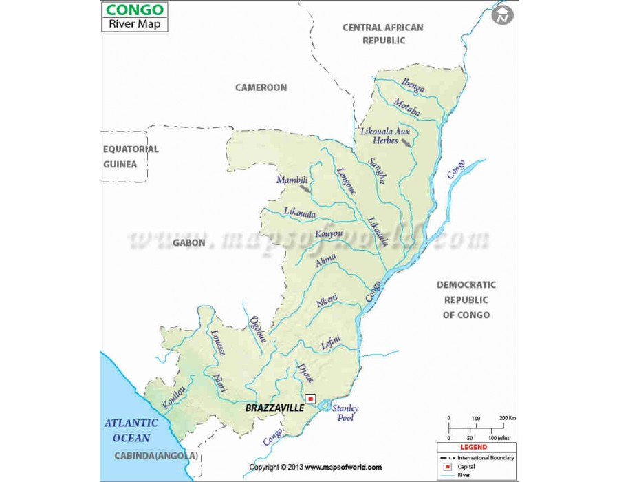 Congo River Map Of Africa.Buy Congo River Map