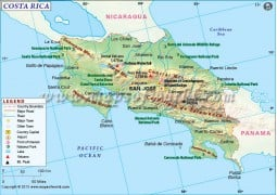 Costa Rica Map - Digital File