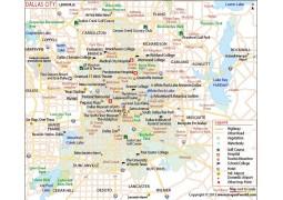 Dallas City Map - Digital File