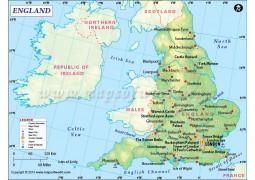 England Map - Digital File