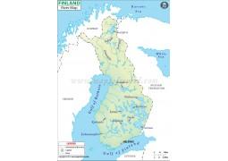 Finland River Map - Digital File
