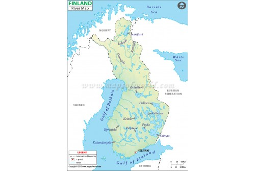 Finland River Map
