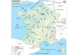 France River Map - Digital File