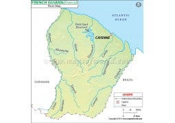 French Guiana River Map