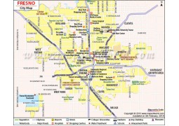 Fresno City Map - Digital File