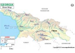 Georgia River Map - Digital File