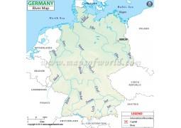 Germany River Map - Digital File