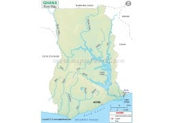 Ghana River Map - Digital File