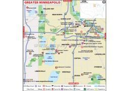 Greater Minneapolis City Map - Digital File