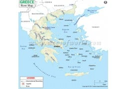 Greece River Map