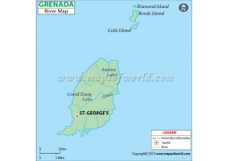 Grenada River Map - Digital File