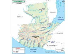 Guatemala River Map - Digital File