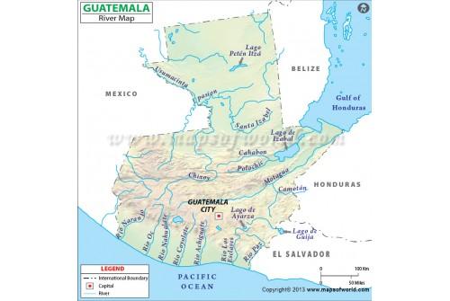 Guatemala River Map
