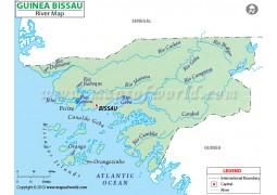 Guinea Bissau River Map - Digital File