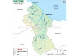 Guyana River Map - Digital File