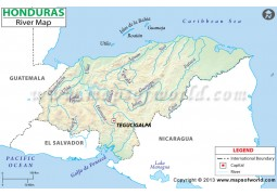 Honduras River Map - Digital File