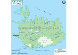 Iceland River Map