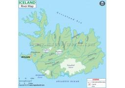 Iceland River Map - Digital File