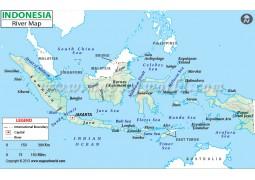 Indonesia River Map - Digital File