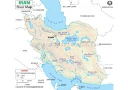 Iran River Map - Digital File
