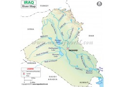 Iraq River Map - Digital File