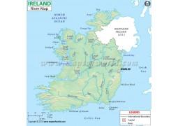 Ireland River Map - Digital File