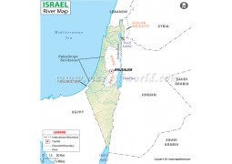 Israel River Map - Digital File