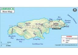 Jamaica River Map - Digital File
