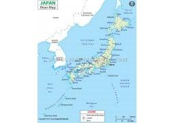 Japan River Map - Digital File