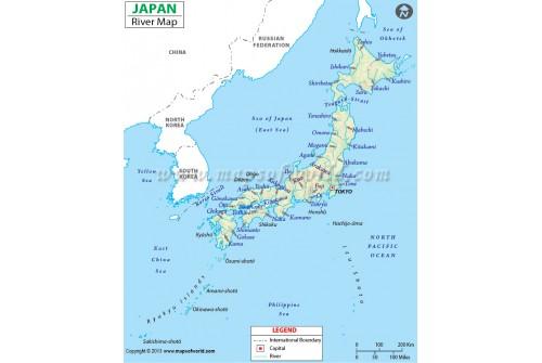 Japan River Map