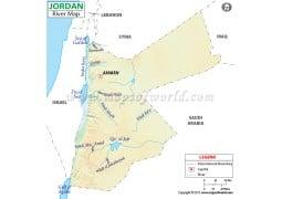 Jordan River Map - Digital File