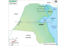 Kuwait River Map - Digital File