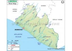 Liberia River Map - Digital File