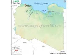 Libya River Map - Digital File