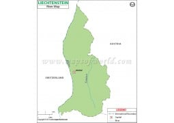 Liechtenstein River Map - Digital File