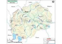 Macedonia River Map - Digital File
