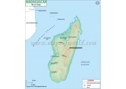 Madagascar River Map