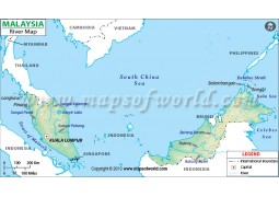 Malaysia River Map - Digital File