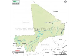 Mali River Map - Digital File