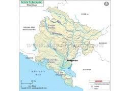 Montenegro River Map - Digital File