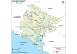 Montenegro River Map