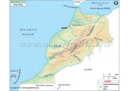 Morocco River Map - Digital File