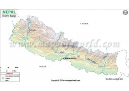 Nepal River Map - Digital File