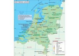 Netherlands Map - Digital File