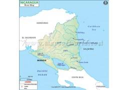 Nicaragua River Map - Digital File