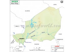Niger River Map - Digital File