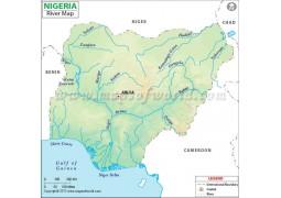 Nigeria River Map - Digital File