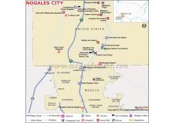 Nogales City Map
