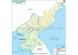 North Korea River Map - Digital File