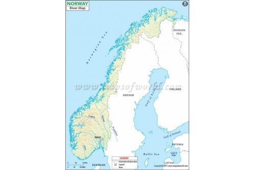 Norway River Map